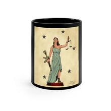 Load image into Gallery viewer, Lady Justice - Ceramic Mug - Black