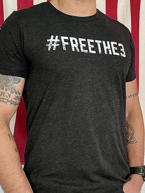 'Free The 3' T-Shirt from Green Wolf Tactical