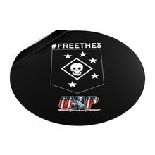Load image into Gallery viewer, #FreeThe3 - MARSOC 3 - UAP - Round Vinyl Stickers