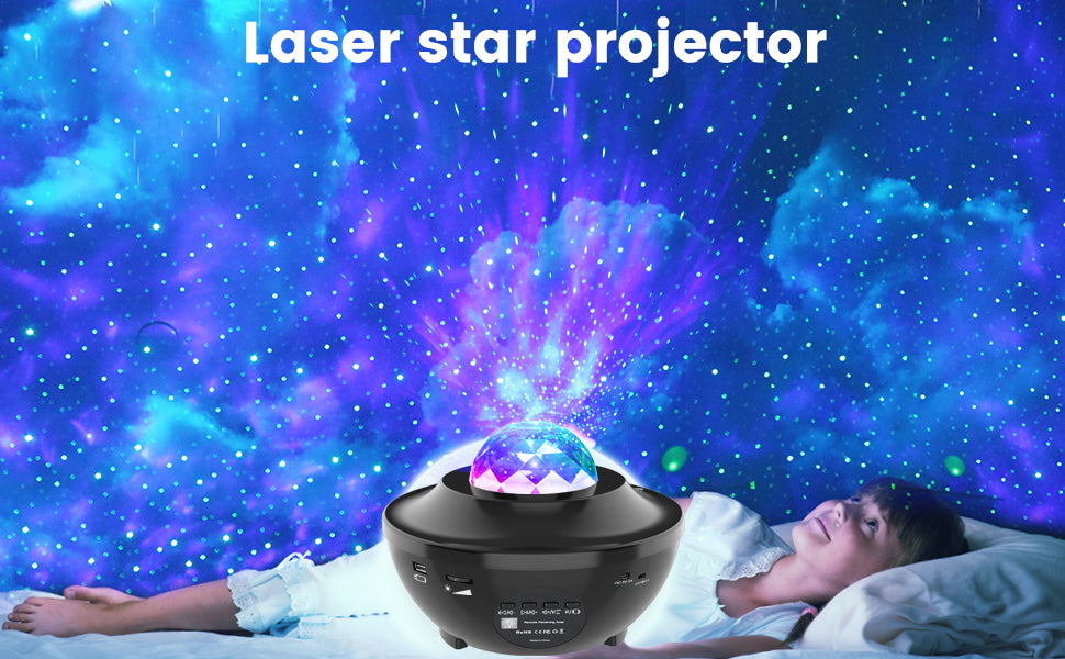 LED Galaxy Projector Light Starry Night Lamp Star Sky Cosmos Night Light Gift