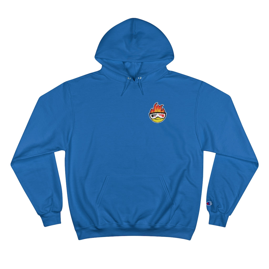 Evan Ferry Hot Head Logo Champion Hoodie