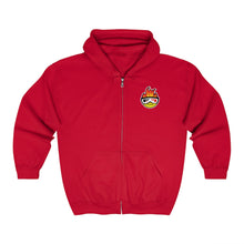 Load image into Gallery viewer, Evan Ferry Hot Head Logo Embroidered Zip Up Hoodie