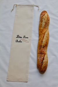 Baguette Bread Muslin Bag (Live Love Bake)