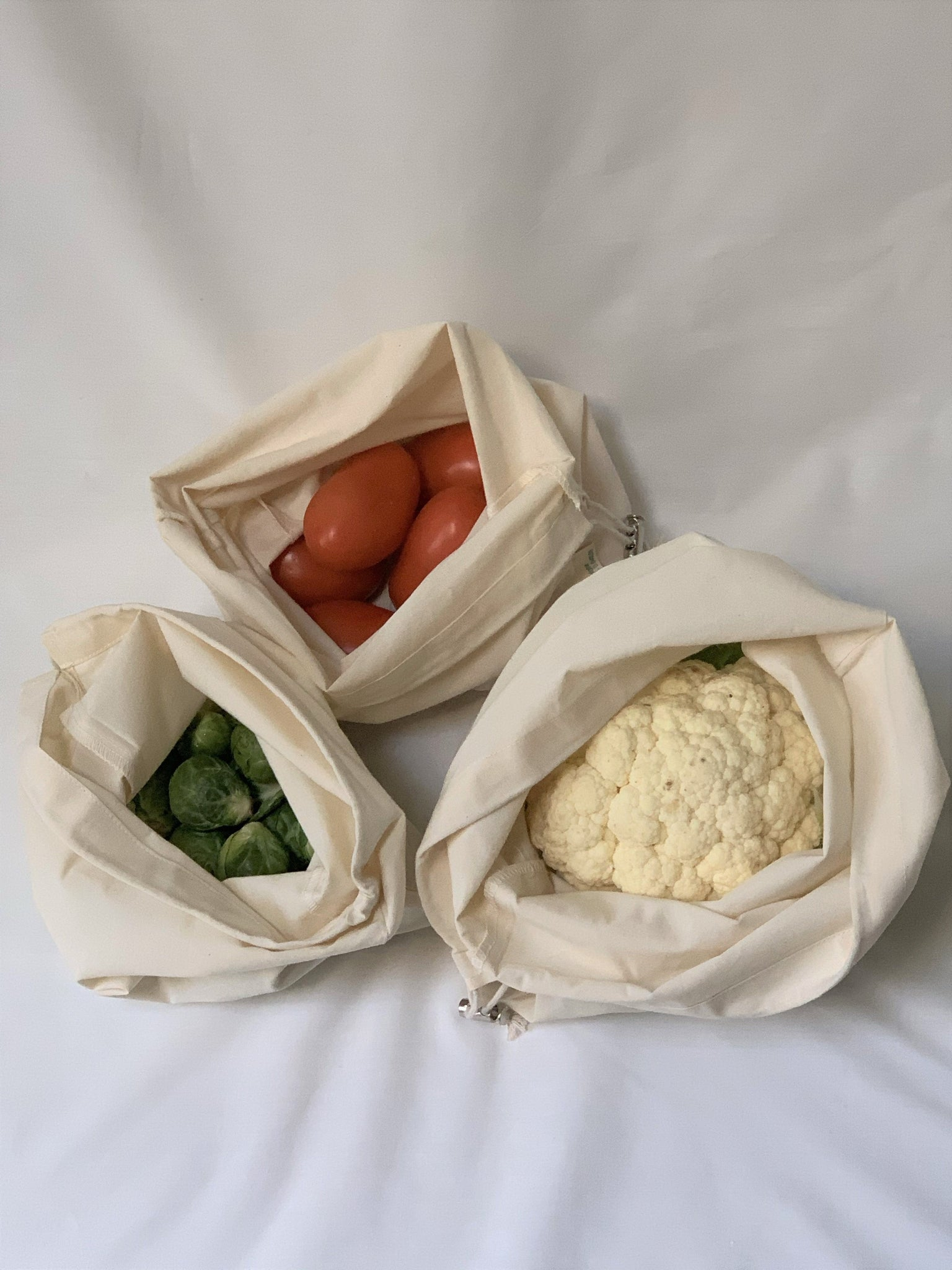Organic Cotton Muslin Produce Bags (Set of 3)