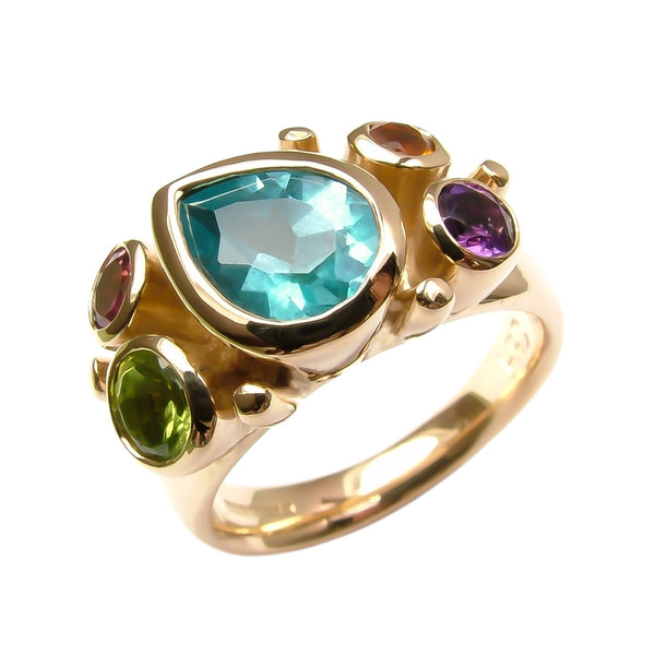 Pear Pastels Gold Showstopper ring