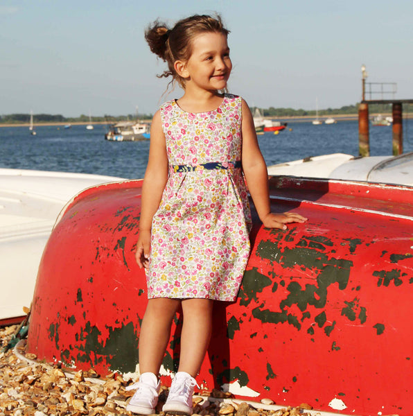 100% cotton reversible girls dress