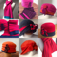 Cloche style hats and scarves