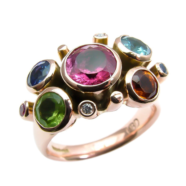 Rosy Rainbow Rose Gold Showstopper Ring