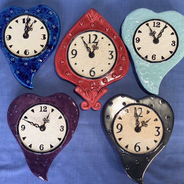 Heart Shape Wall Clocks
