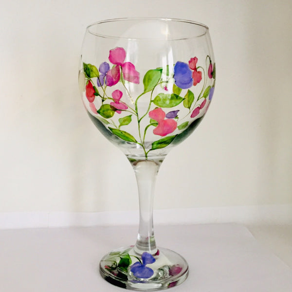 Sweet Peas Gin Glass