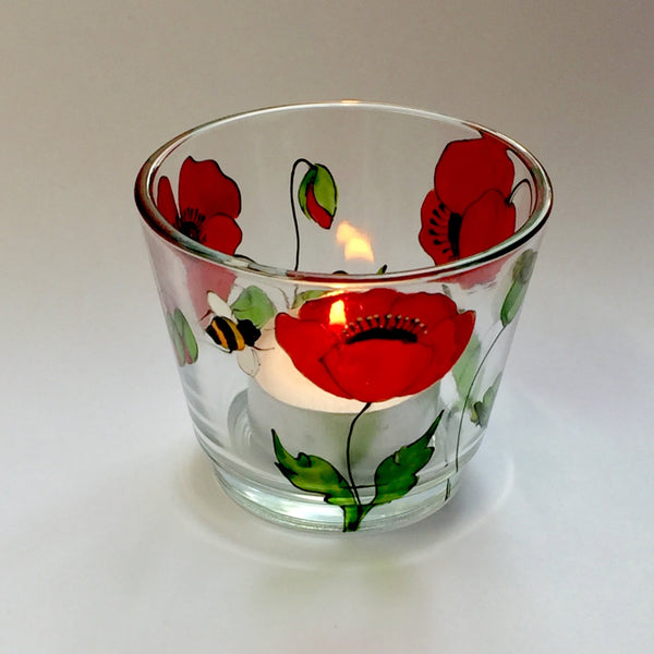 Poppy and Bee Tealight Holder