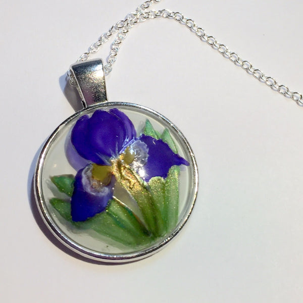 Glass Iris Necklace