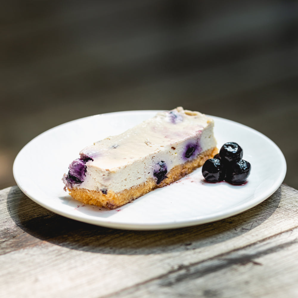 Lemon Blueberry Keto cheesecake
