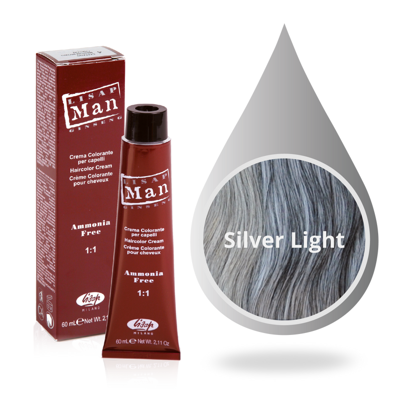 Lisap Man Hair Color 0/18 - Licht Zilver
