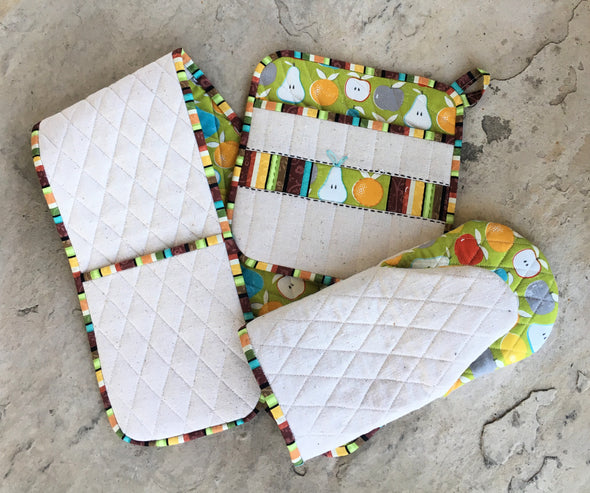 flower city potholders sewing pattern | shop radiant home studio