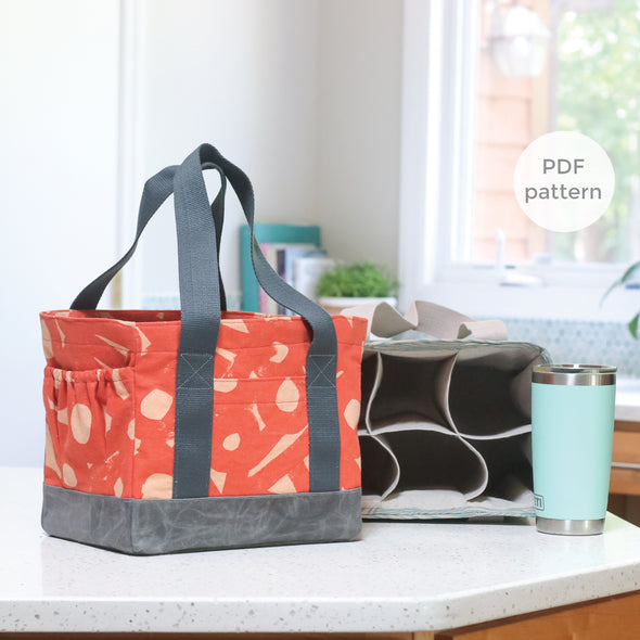 webster water bottle tote sewing pattern | shop radiant home studio