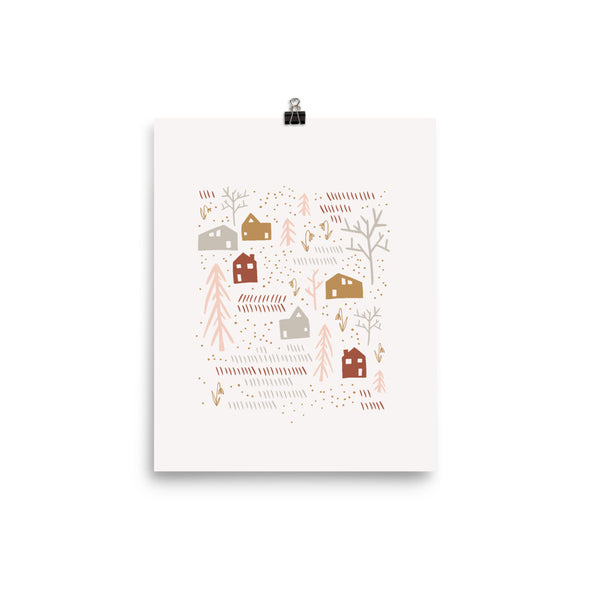 Happy Neighbors | Peach Raised Neighborly Art Print | Radiant Home Studio