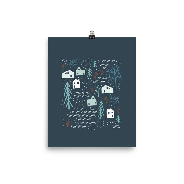 Love Your Neighbors | Raised Neighborly Art Print | Blue Radiant Home Studio