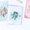 eco-friendly recycled note card gift set | emerald & aqua bouquet | shop radiant home studio