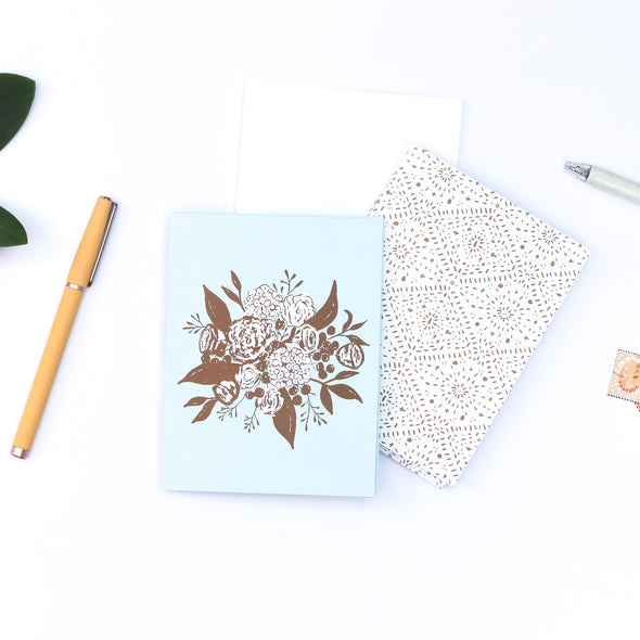 eco-friendly recycled notecards | ocean & ochre bouquet | shop radiant home studio
