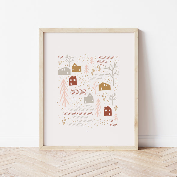 Love Your Neighbors | Peach Raised Neighborly Art Print | Radiant Home Studio
