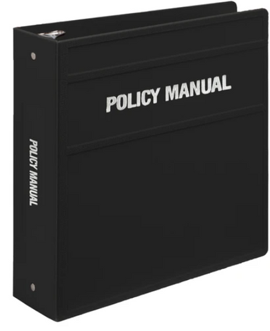 Heavy Duty 3-Ring Binder for Policy Manuals