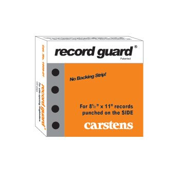 Record Guard® Hole Punch Reinforcements, Side Hole, 1 Box