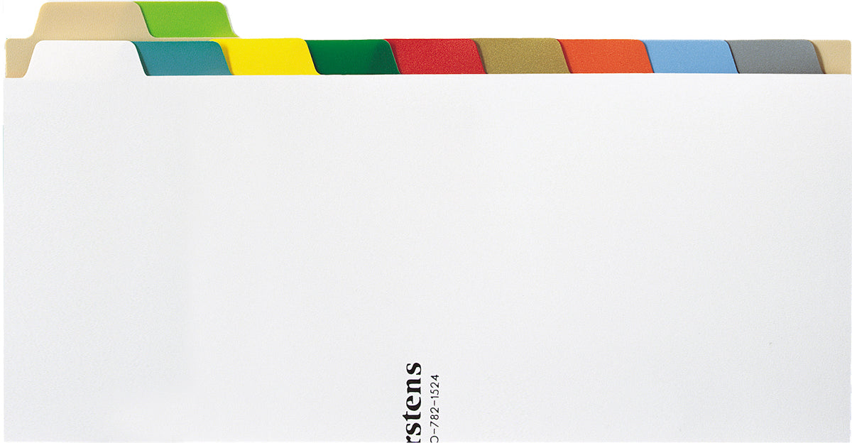 Heavy Duty Plastic Blank Divider Set for Side Opening Binders, Multi-Color