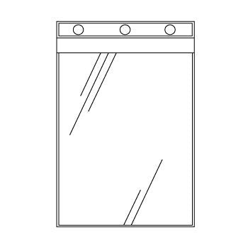 Heavy Duty Clear Vinyl Photo Sheet Protectors for Top Opening Ring Binders