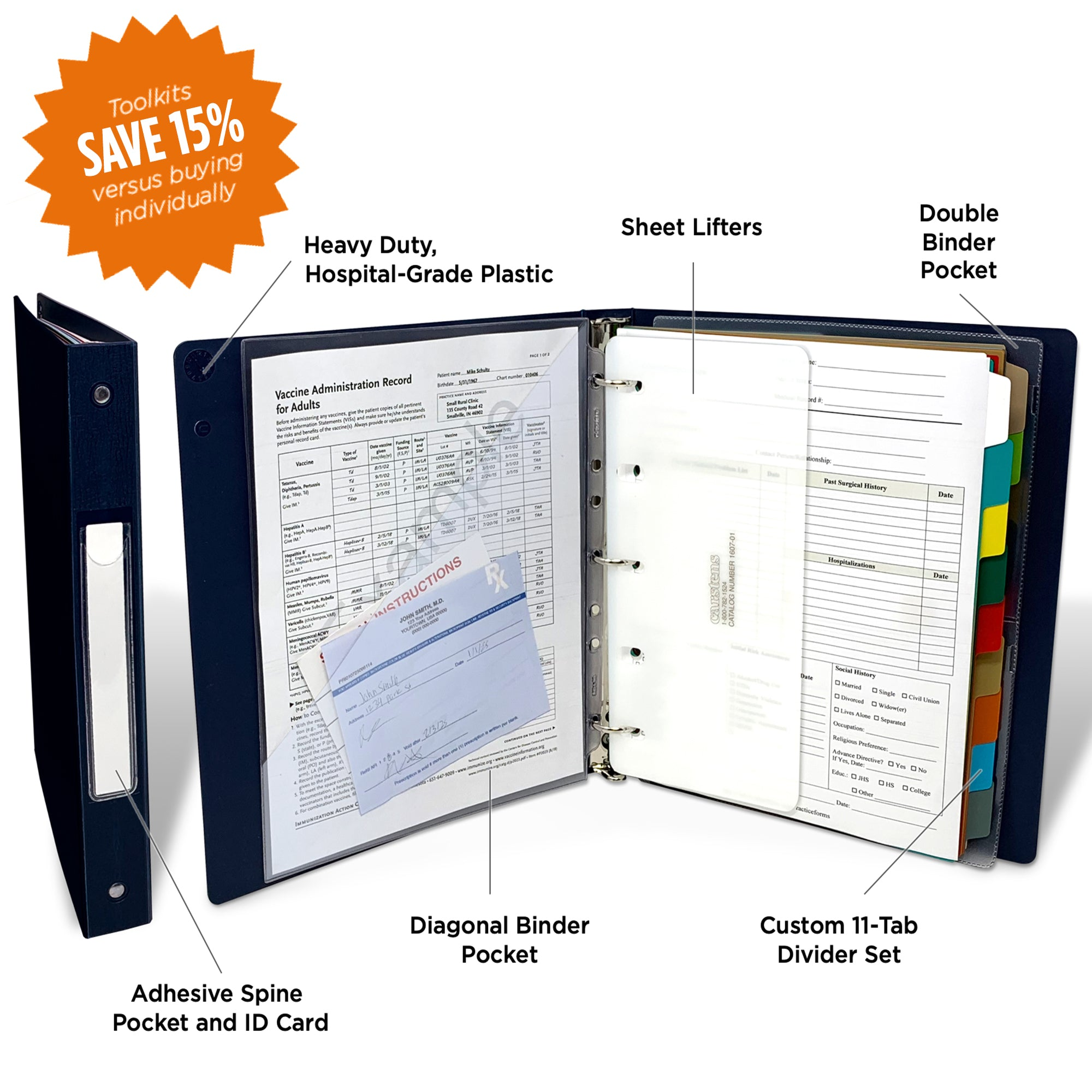 "Custom Paper Charting Toolkit with 1"" Binders (Set of 25)"