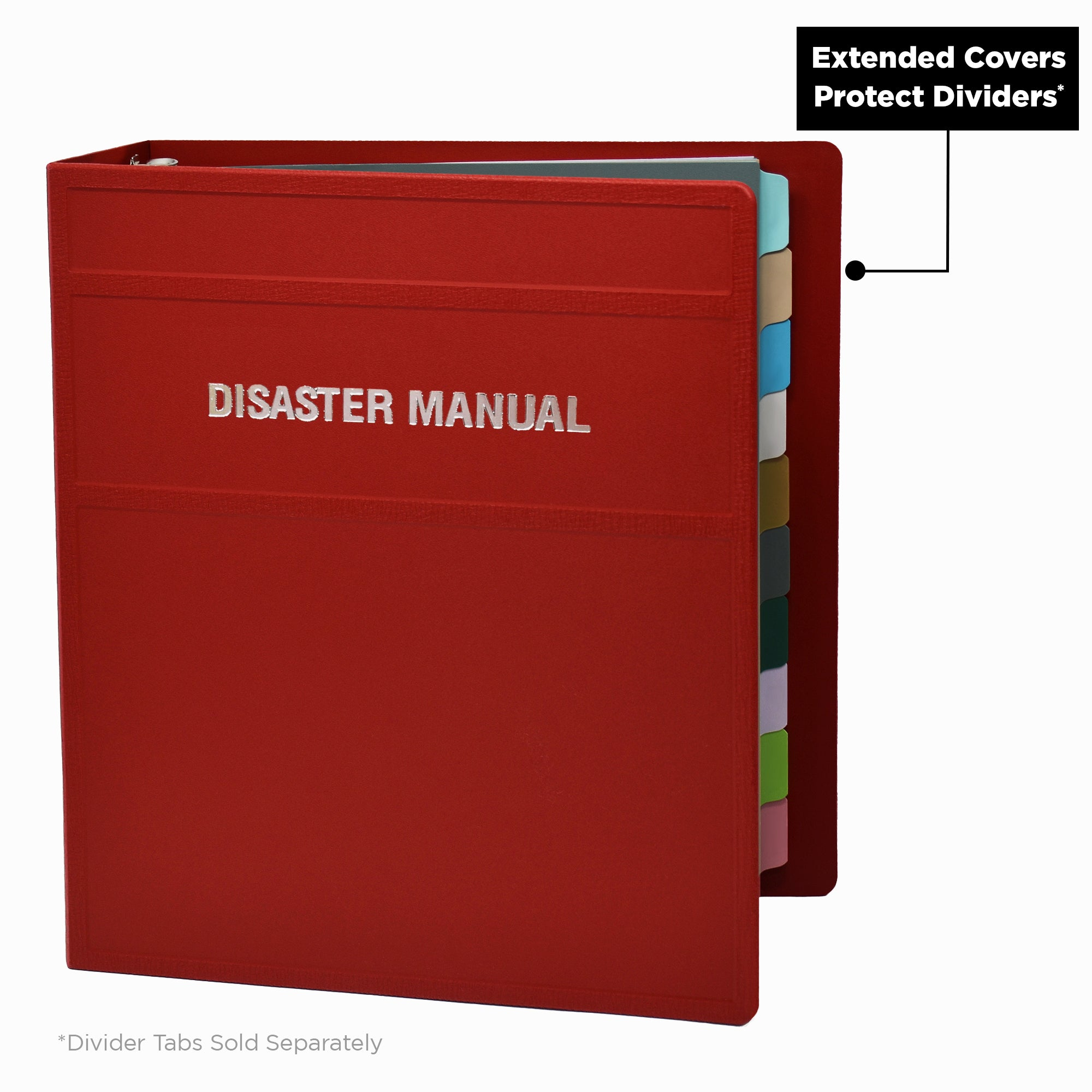 Heavy Duty 3-Ring Binder for Disaster Manuals - Side Opening
