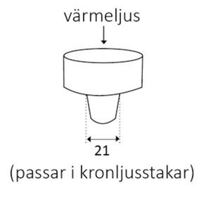 Våges Adapter värmeljus
