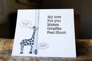 The Short Giraffe Greeting Card
