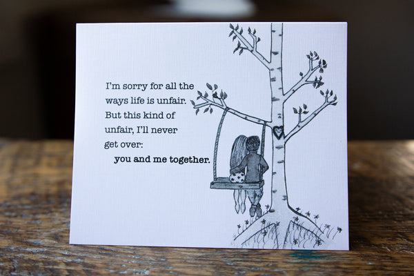 Life is Unfair Greeting Card