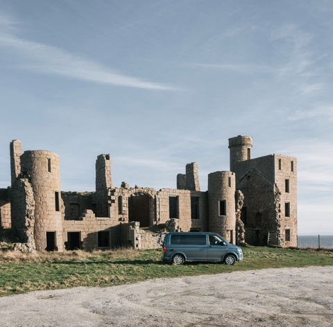Camper Van on hire from Trax at Slains Castle