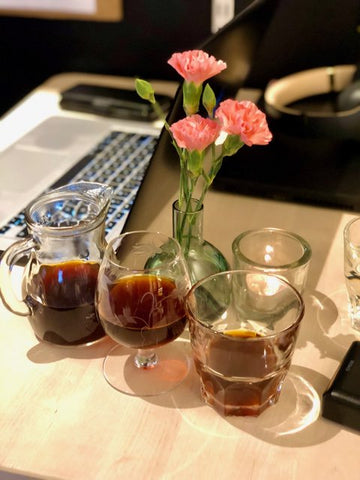 Costas Of Sweden coffee prepared at the roastery in the North of Sweden