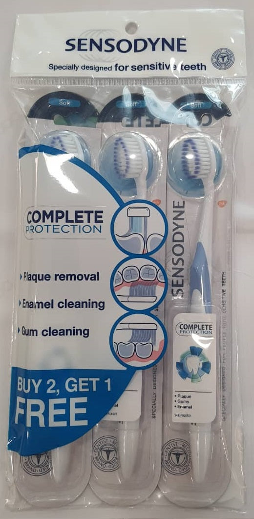 Sensodyne Complete Protection Toothbrush SOFT Buy 2 Free 1