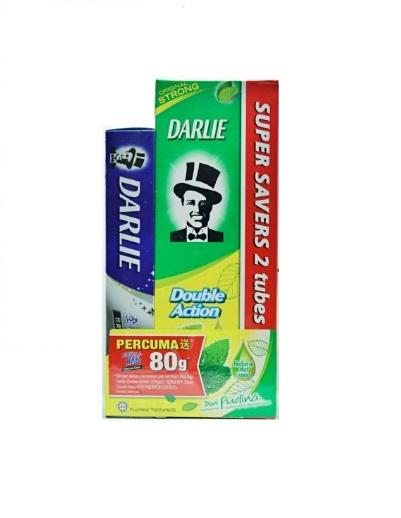Darlie Double Action Toothpaste 225gx2's + Free 80g