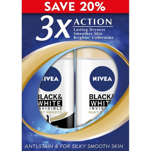 Nivea Female Deodorant Roll On Black & White Silky Smooth