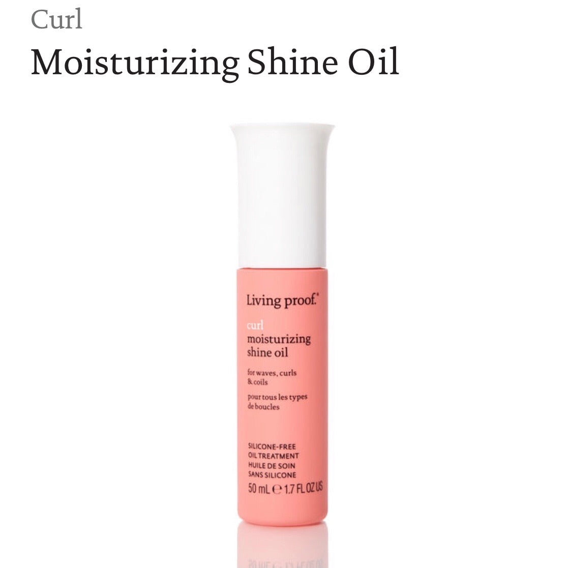 Living Proof Curl Moisturizing Shine Oil