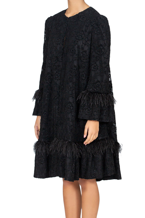 Ambition Black Lace Coat