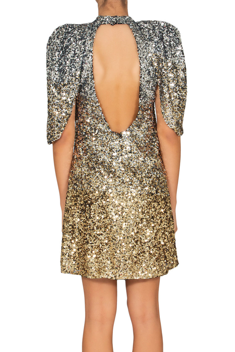 Moon Sequins Cocktail Dress
