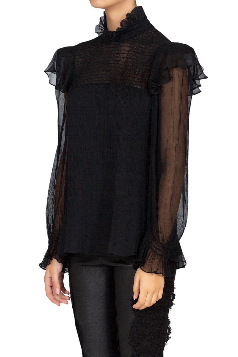 Shadow Chiffon Blouse