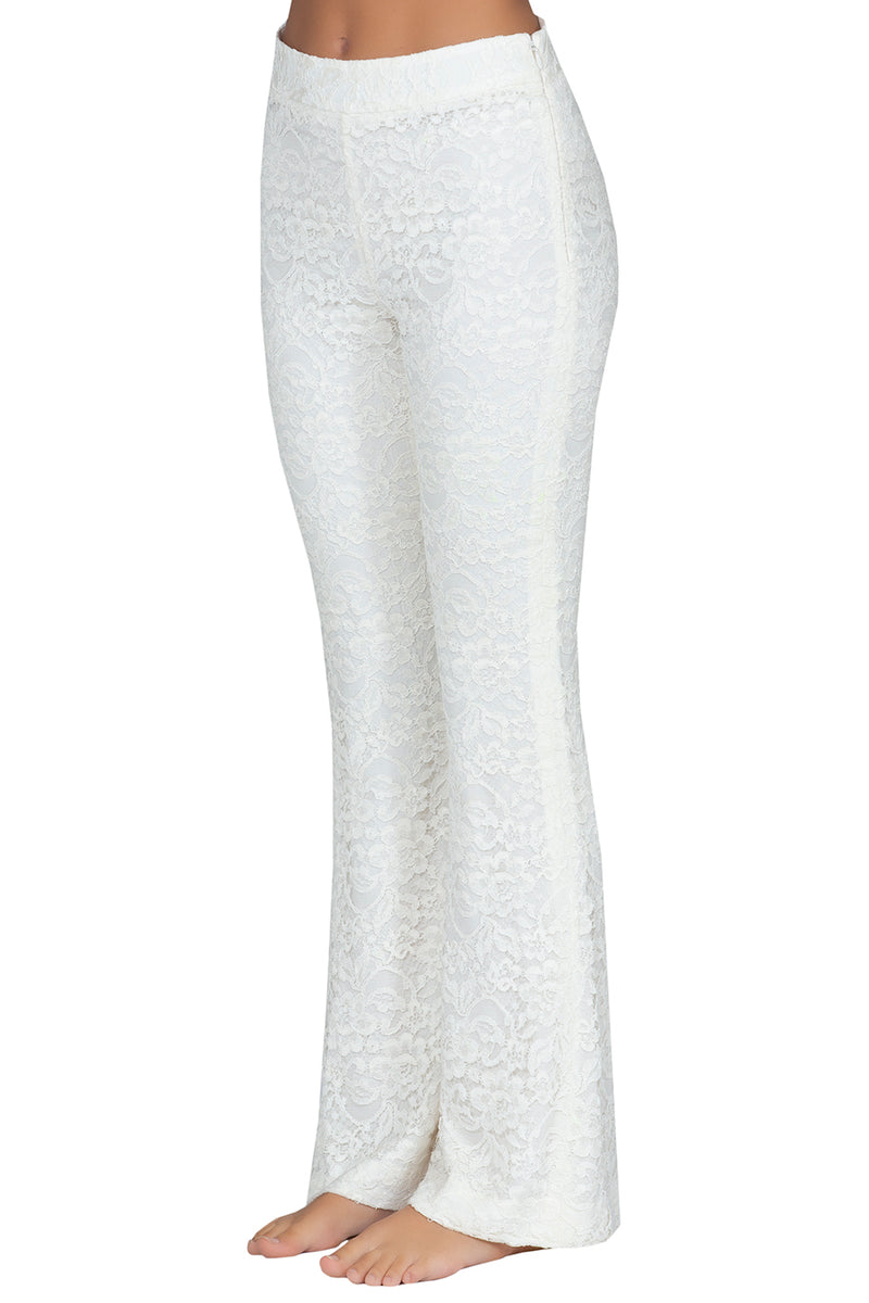 White Lace Trousers