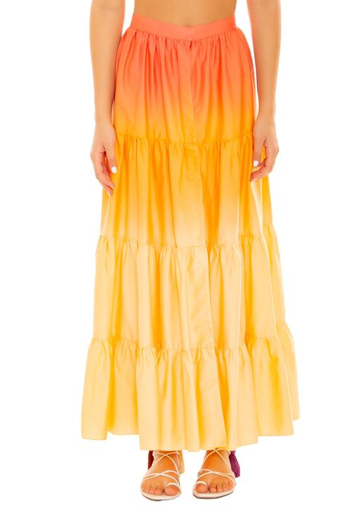 Sunset Tie Dye Skirt