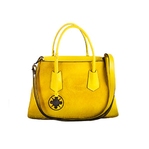 Open image in slideshow, This fun, brightly colored Cavallino medium bags are perfect for any occasion. Also features a color-matched tassel and black Felizola logo. Hand Made in Italy. Yellow