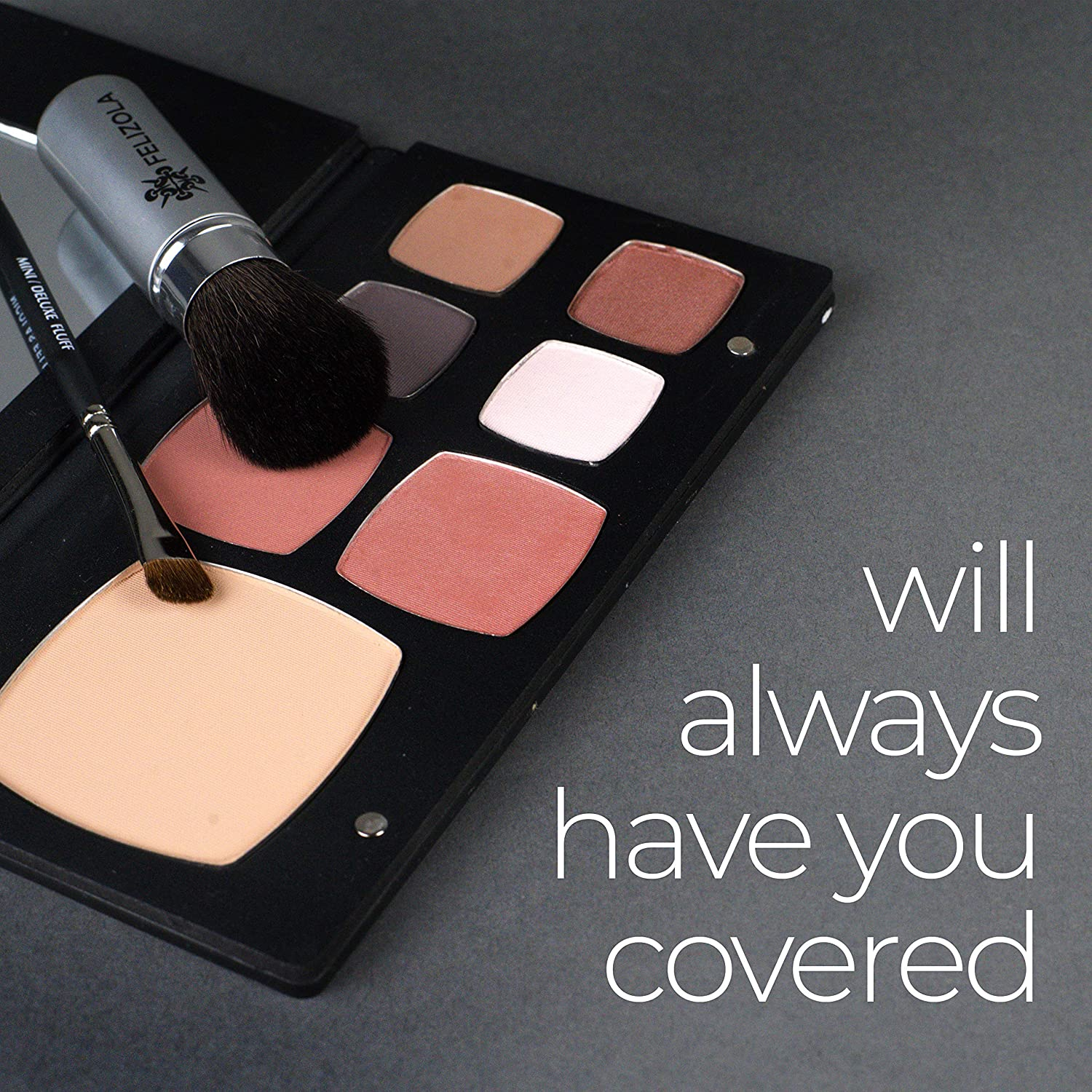 Mineral Makeup Palette Kit Includes 4 gorgeous mineral eyeshadows that cling to eyelids and won't crease, fade or weigh down eyes.