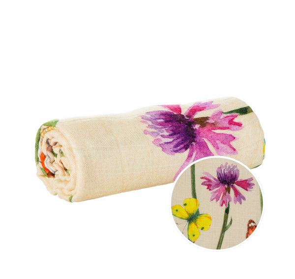 Among the Wildflowers - Tula Baby Blanket