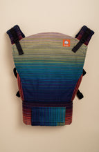 Stewed Rhubarb Oh She Glows (purple weft) - Tula Signature Handwoven Baby Carrier