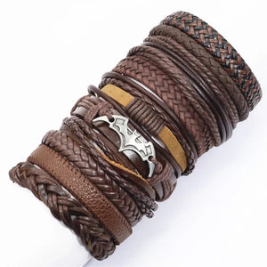 Ethnic Rope Leather Pulsera